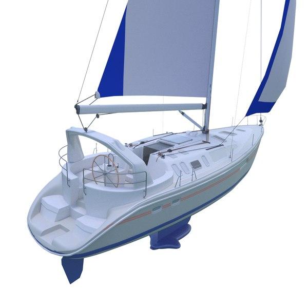 3D yacht ship vessel model