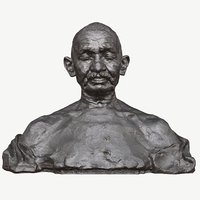 3D sculpture gandhi ram sutar