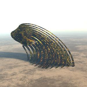 3D spiral dome building model