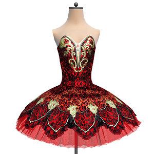 3D tutu ballet carmen costume model