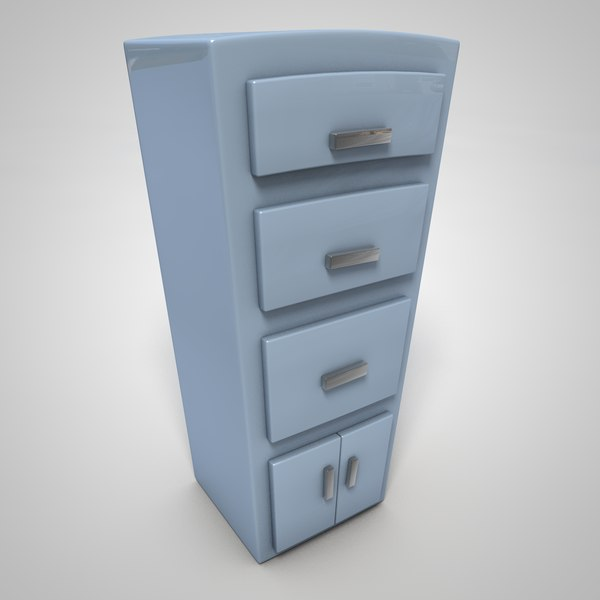 Cartoon Filing Cabinet 3d Model Turbosquid 1432531
