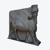 ASSYRIAN WINGED BULL WITH HUMAN HEAD