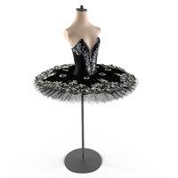 tutu ballet swan lake 3D model