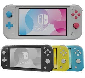 3D new nintendo switch lite model