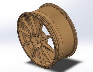 wheel inspired 3D model