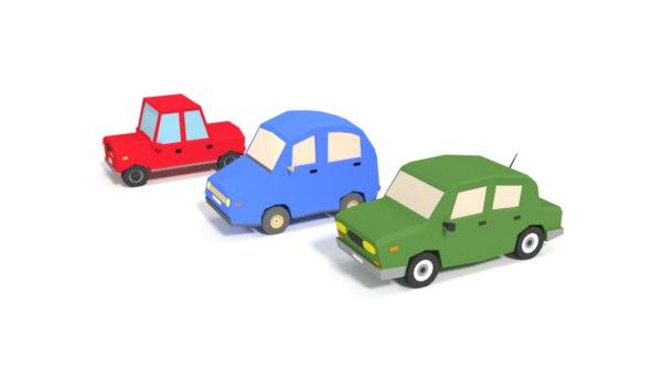 cartoon city cars 3D model