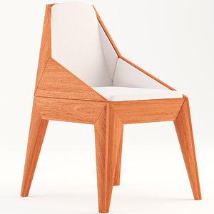 3D chair triarm model