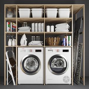 3D set laundry