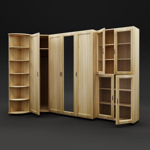3D model cupboard bookcase furniture