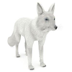 3D white fox