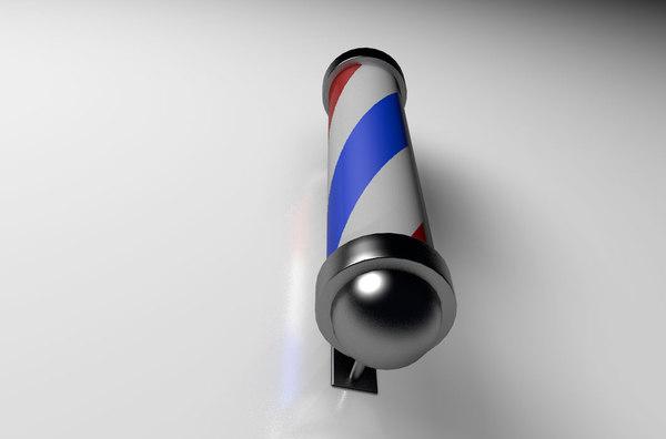 barber shop pole cilindro 3D