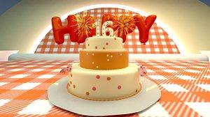 3D cake food model