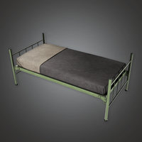 Military Barracks Bed - MLT - PBR Game Ready