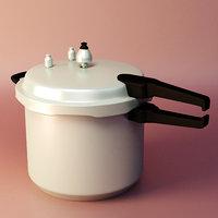 pressure cook cooker 3D model