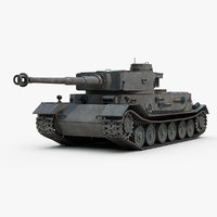 3D ww2 german tiger vk model