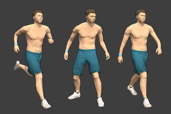 3D rigged male character -