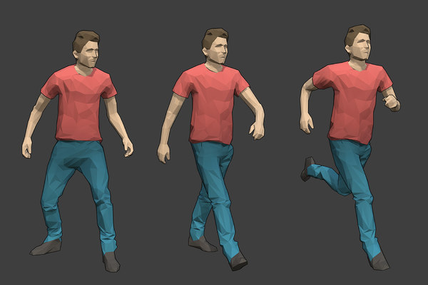 3D model rigged male character -
