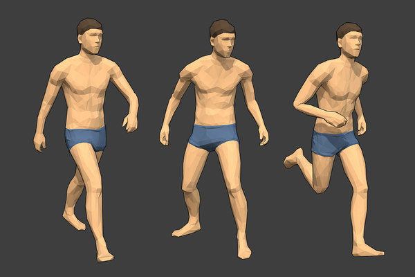 rigged male character - 3D model