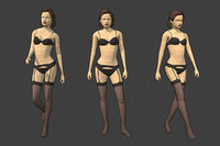 3D rigged female character -