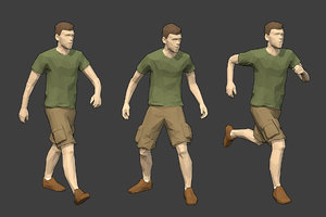 rigged male character - 3D