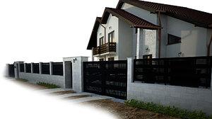 3D gardenwall fence model
