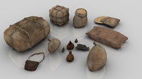 Set of 13 Medieval Bags and Sacks