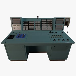 old industrial control panel 3D model