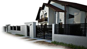 gardenwall fence 3D
