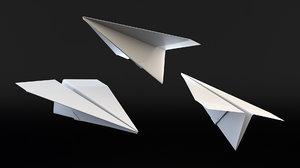 3D paper plane model