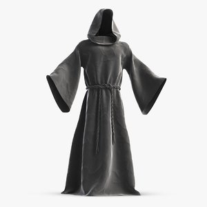 medieval monk robe halloween 3D model