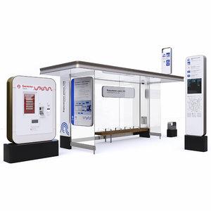 stopping pavilion 3D model