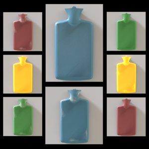 3D hot water bottle