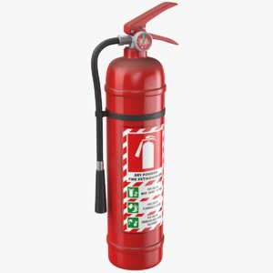 3D model real extinguisher