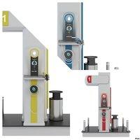 fuel station set 1 3D