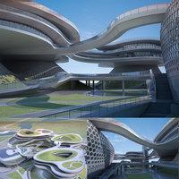 3D futuristic skyscrapers 11