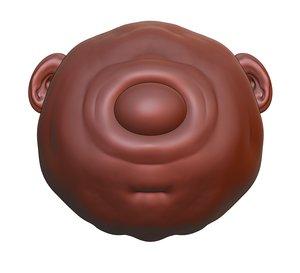 3D sculpt eye cyclops cartoon character