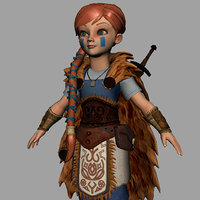 Shield Maiden Anim RIg