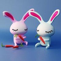 3D cartoon rabbit toon model