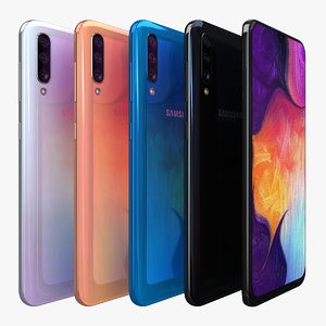 3D samsung galaxy a50 color