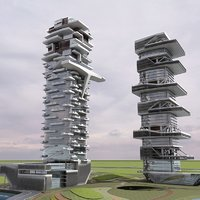 3D futuristic skyscrapers 12