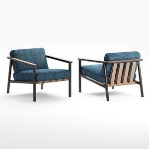 3D molteni c gillis armchair model