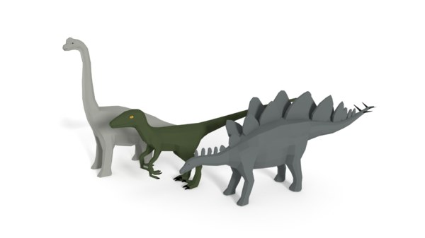 dinosaurs stegosaurus velociraptor model