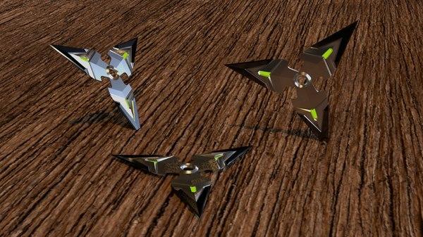 3D genji s shuriken model