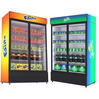3D model fridges beverage