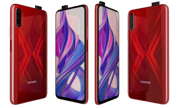 3D honor 9x charm red model