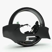 wheel motorcycle sci-fi concept 3D model