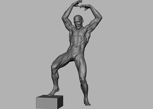 3D model dynamic character