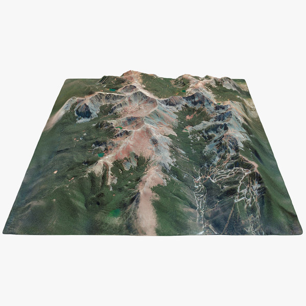 3D model wheeler peak nevada