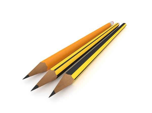 graphite pencils 3D model