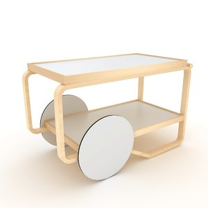 tea trolley alvar 3D